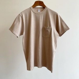 Velva Sheen Pigment Pocket T-Shirt Latte