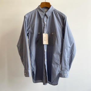 Kaptain Sunshine Long Sleeve Work Shirt Indigo Chambray