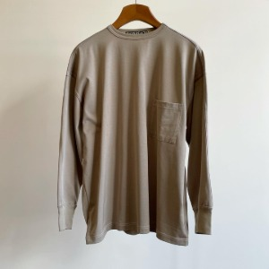Haversack Paralleled Yarn L/S Pocket Jersey Beige