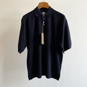 Kaptain Sunshine Polo Collar Knit Shirt Navy