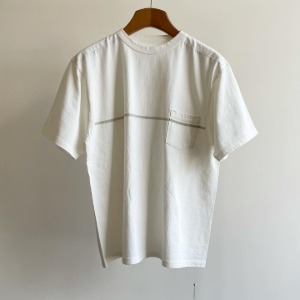 Kaptain Sunshine West Coast Tee White X Grey Line