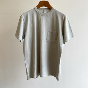 Velva Sheen Pigment Pocket T-Shirt Grey